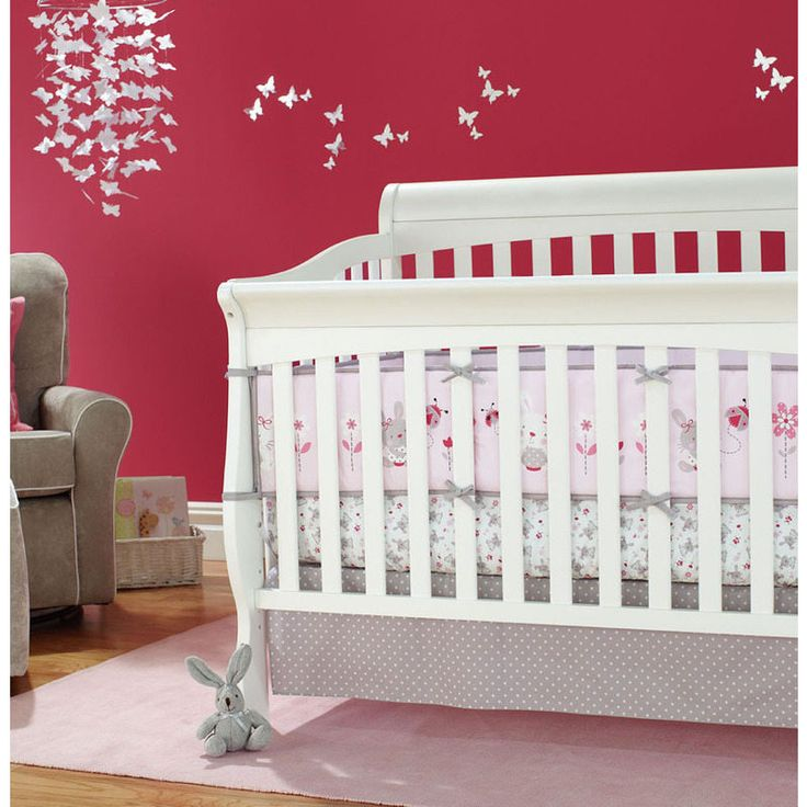 4 Piece Baby Cot Bumper Set Protectors in Rabbit | Buy New Arrivals