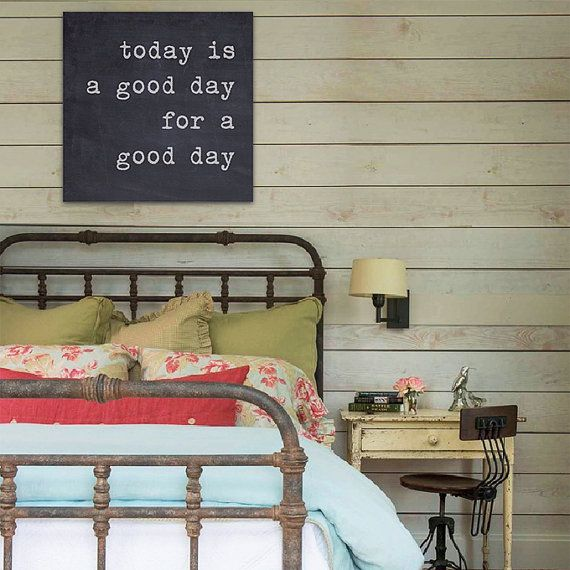 Today Is A Good Day For A Good Day Large Canvas by laurenmaryHOME