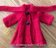Free Doll Coat and Hat Knitting Patterns
