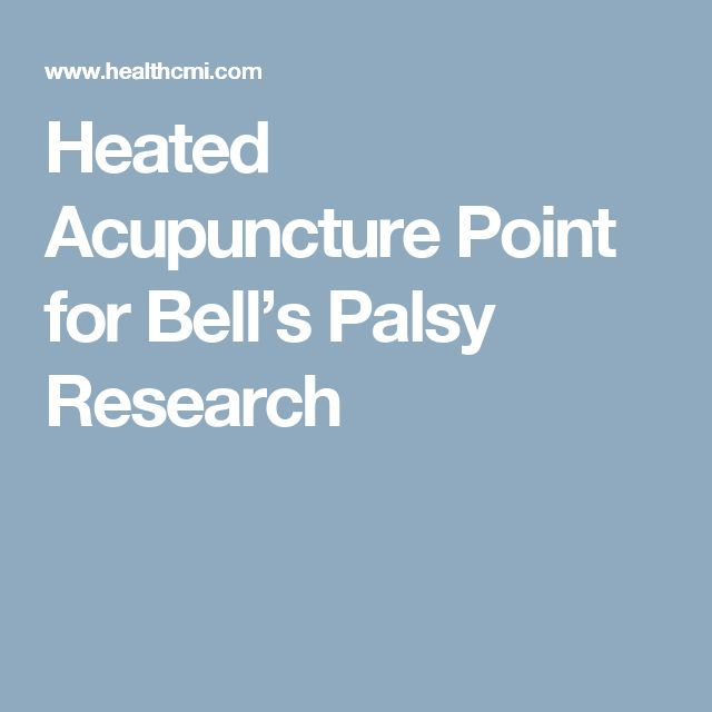 Heated Acupuncture Point for Bell's Palsy Research