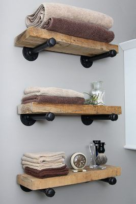 DIY Floating Industrial Pipe Shelves | Knock Off Decor | Bloglovin'