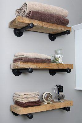 DIY Floating Industrial Pipe Shelves | Knock Off Decor | Bloglovin'