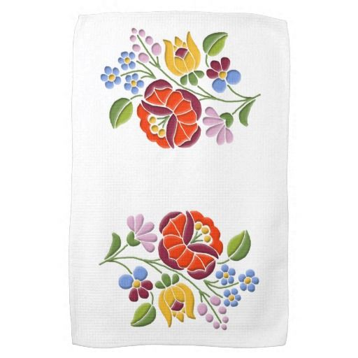 Art. van het Borduurwerk van Kalocsa het Hongaarse Handdoek