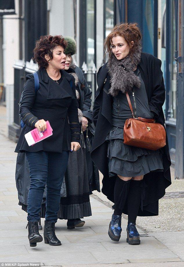 I want her skirt....I want her socks.... I NEED them shoes! I want her coat.... I like her scarf.....  And I need Helena Bonham Carter.... Like now!
