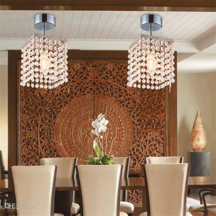 Mini Crystal Chandelier Ceiling Lights Modern Chandeliers Lamp Pendent Entrance Hallway