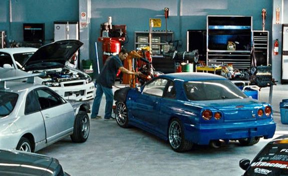 brian's blue nissan skyline gt-r in the original fast and furious