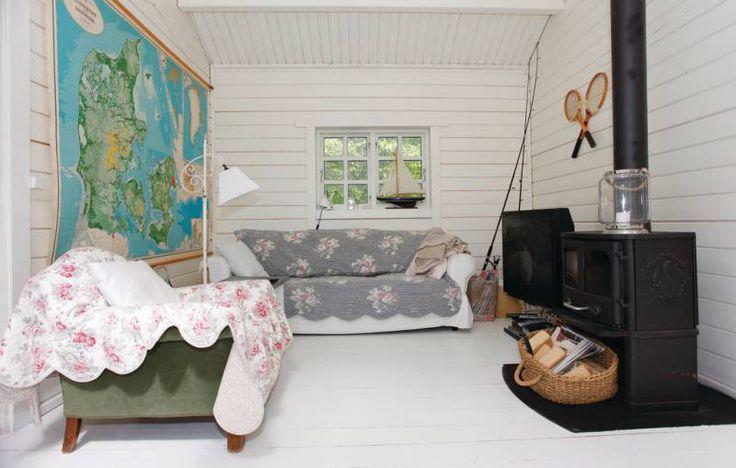 Hvidt gulv og loft