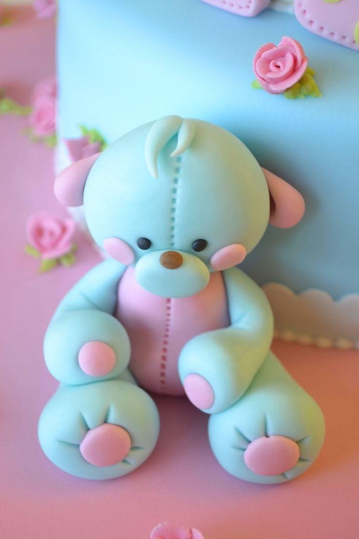 Gumpaste teddy bear Winnie-making it easy for beginners: Naver blog