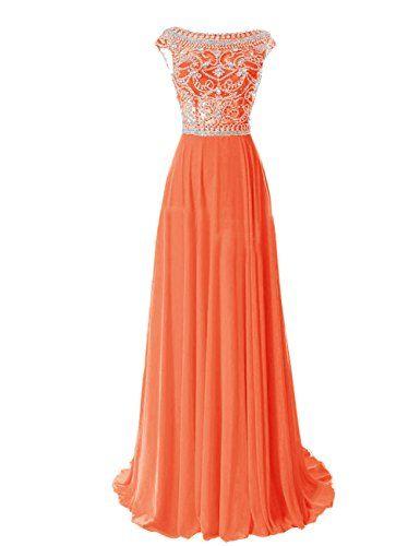 Tidetell Elegant Floor Length Bridesmaid Cap Sleeve Prom Evening Dresses Orange Size 16 Tidetell http://www.amazon.com/dp/B00R5DMDKA/ref=cm_sw_r_pi_dp_X9Xbvb1NCW7F2