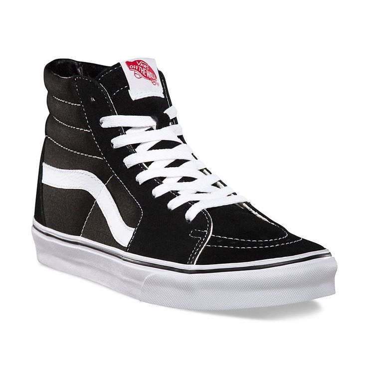 Vans The Sk8-Hi, Vans legendary lace-up high top inspired by the classic Old Skool, has a durable canvas and suede upper, a supportive and padded ankle, and Vans vulcanized signature Waffle Outsole. S