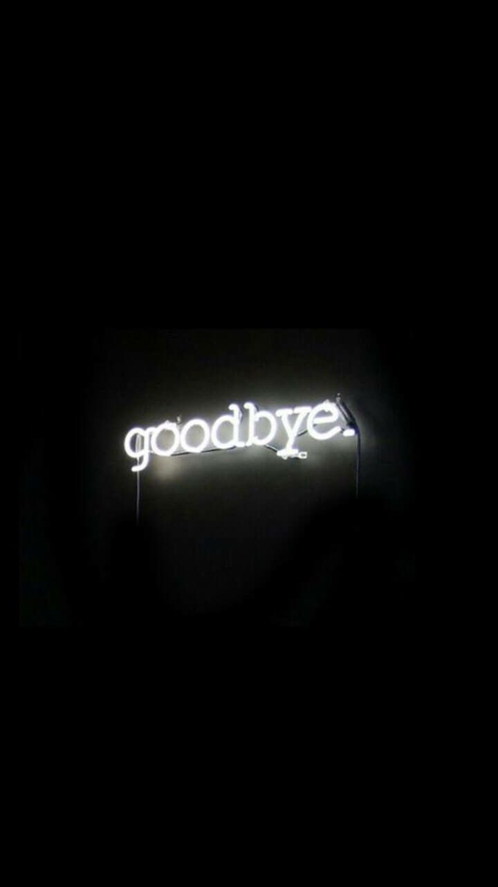 I goodbye I neon sign I light I art I home decor I…