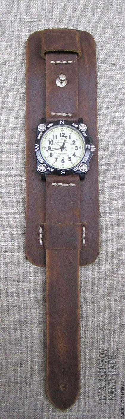 Купить или заказать Кожаный ремешок для часов в интернет-магазине на Ярмарке Мастеров. Ремешок для часов из натуральной кожи с undercasing. Модель полностью исключает контакт кожи с металлической фурнитурой. Оттенок цвета на изображении может отличаться от реального оттенка за счёт цветопередачи вашего монитора.