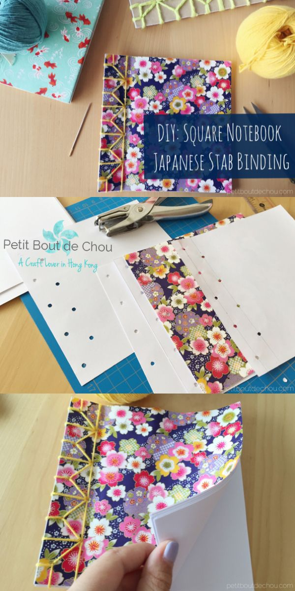 Make these adorable and easy square notebooks with Origami paper using Japanese …
