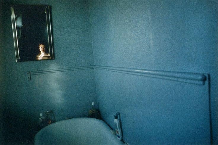 Nan Goldin, Self Portrait in Blue Bathroom, London 1980