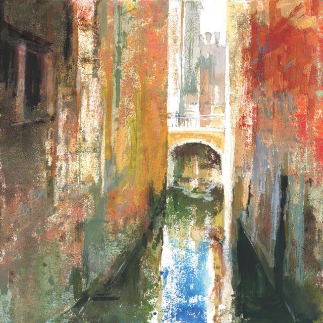 """""""Canal junto a Rialto""""50 x50cm.M.Teresa Martin-Vivaldi"""