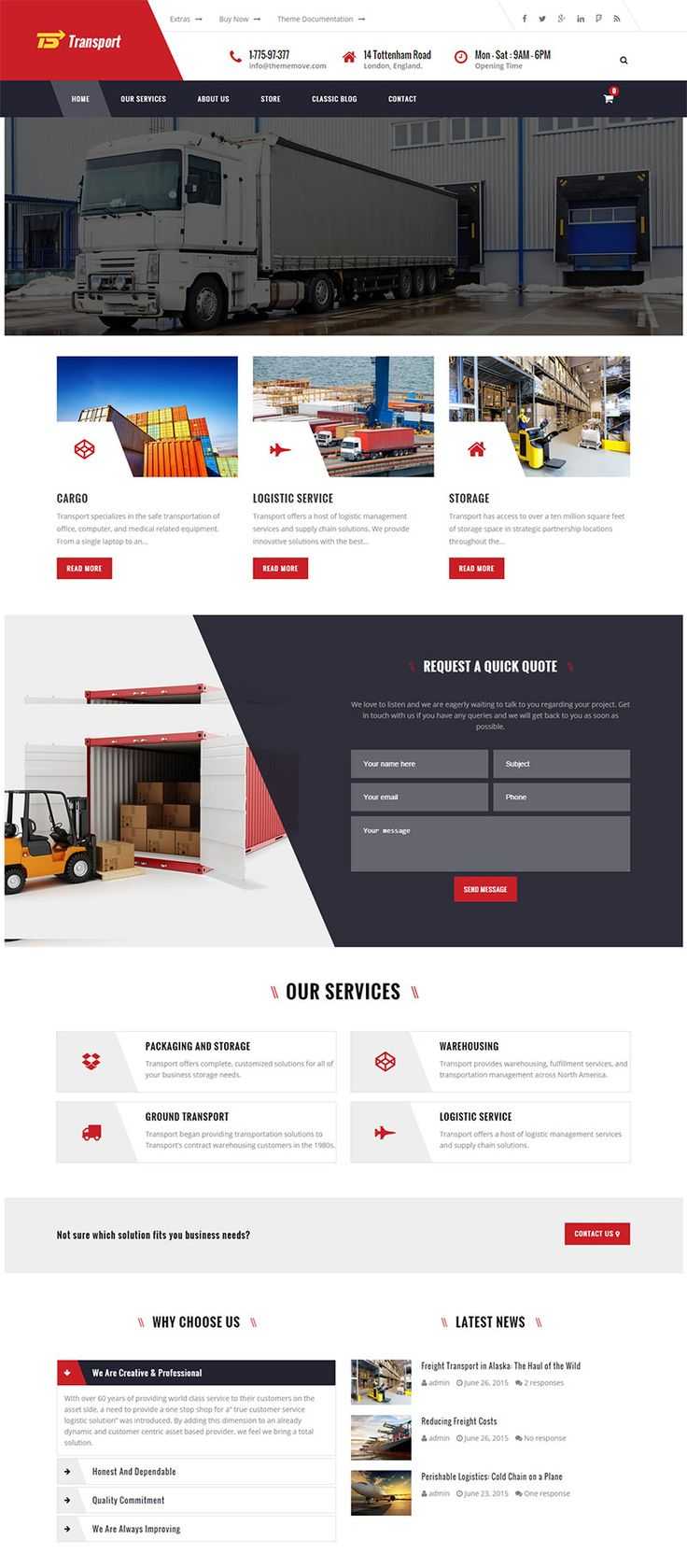 Best Premium Transportation and Logistic Theme #wordpress #transport #corporate