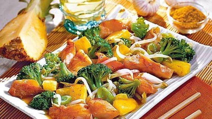 Mit frischer Ananas und Fisch gelingt das Abnehmen im Nu - und schmecken tut's auch noch!
