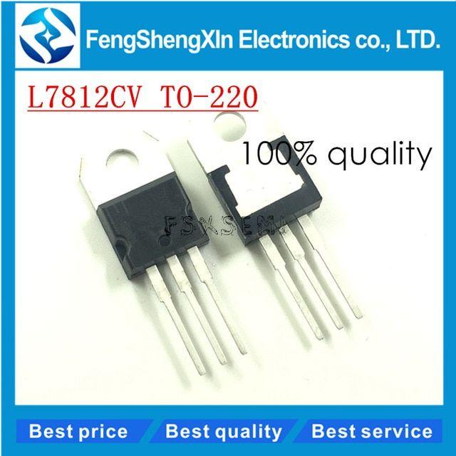 LOT of 10 IC L7812CV TO-220 Voltage Regulator ten