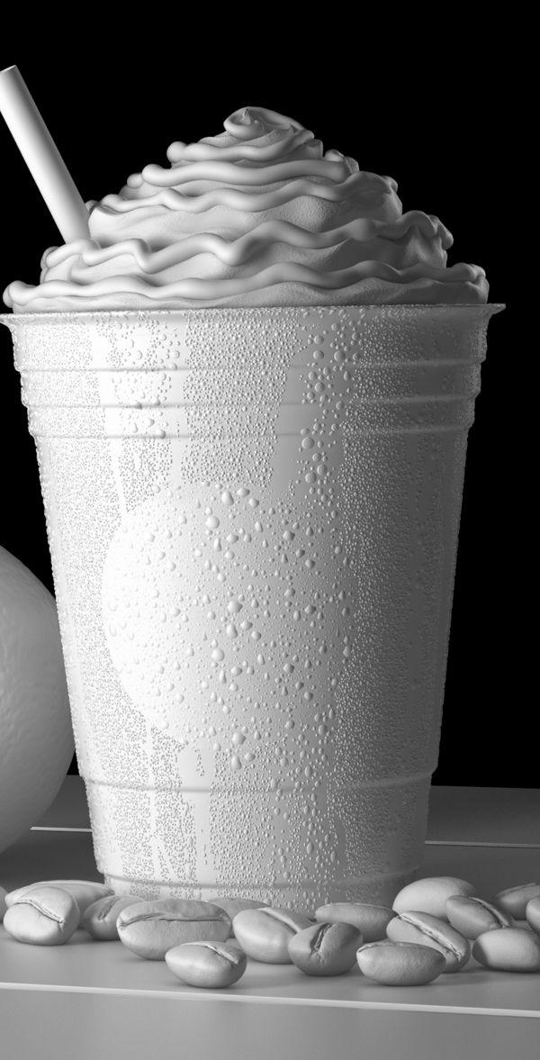 3D Product Visualization - Starbucks Iced Orange Mocha by Kalpesh Patil, via Behance