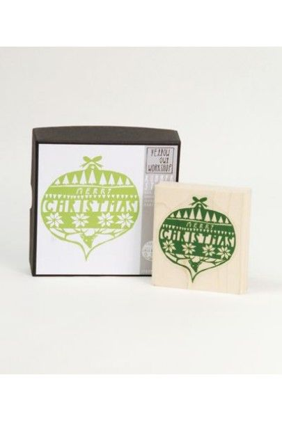 Yellow Owl Workshop Christmas - Rubber Stamp Set of 1 - Christmas Ornament  Available from NoteMaker.com.au