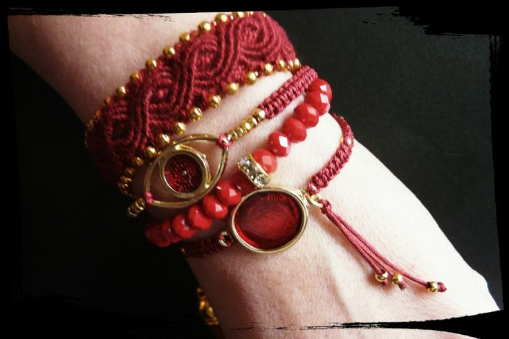 Red by friendshipbracelettherapy®