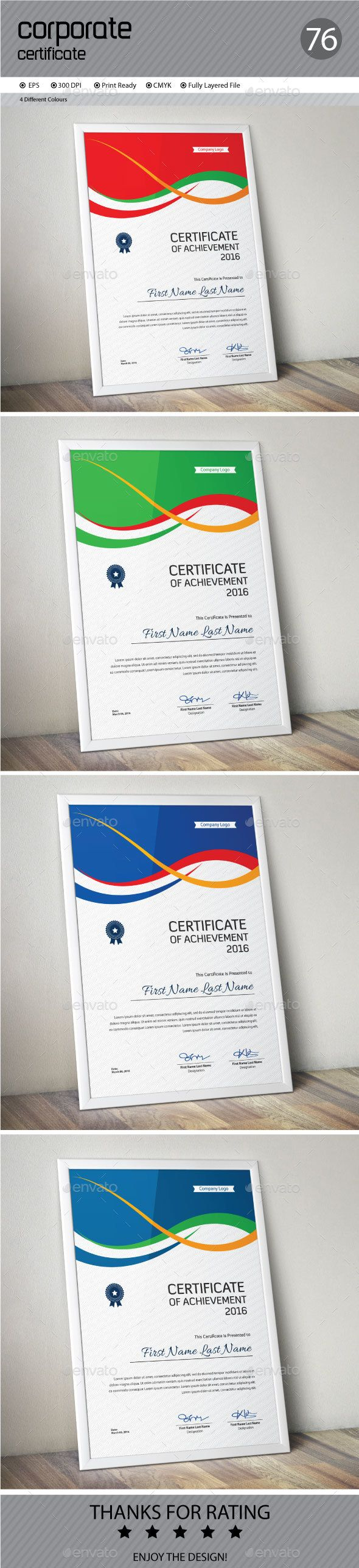 186 best certificate images on pinterest certificate templates certificate by conceptfactory certificate is especially for corporate or professional use 4 different color and easy to modify yadclub Choice Image