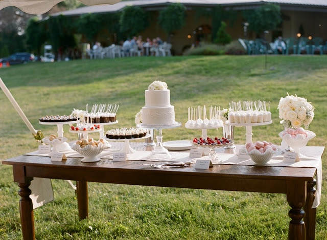 Minneapolis Wedding Cake And Dessert Table By Cocoa Amp Fig Cocoaandfig
