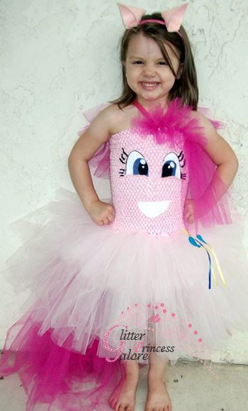 Pinkie Pie, inspired from My Little Pony, tutu dress costume by GlitterprincessGalor on Etsy