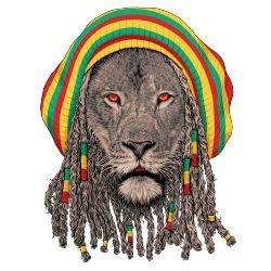 Lion rasta, seekor raja hutan yang menjadi rastamania. #Kaos #Desain #Baju #Design #TShirt #Tees #Rupawa #Rasta #Lion #Animal