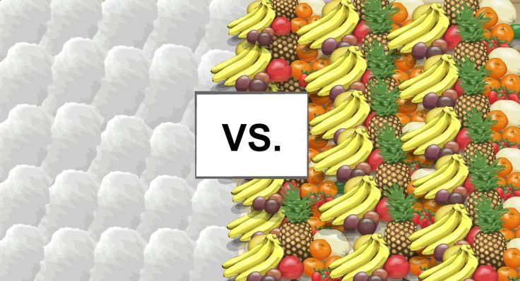Fruit vs.candyfloss