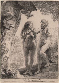 Morgan Museum Rembrandt Prints Online etching adam and eve