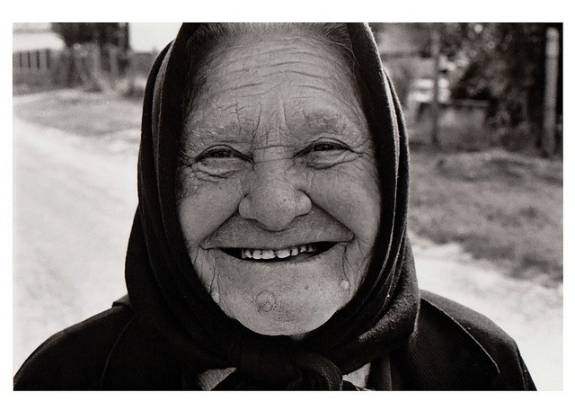 Grandma In the Village of Eastern Europe.  Tápióbicske, Magyarország (Hungary). Follow us on Twitter @: https://twitter.com/everydaychild