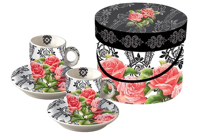 www.gifthaus.co.za Retro Rose Espresso Cups