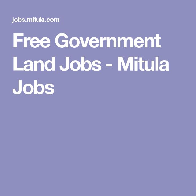 Free Government Land Jobs - Mitula Jobs