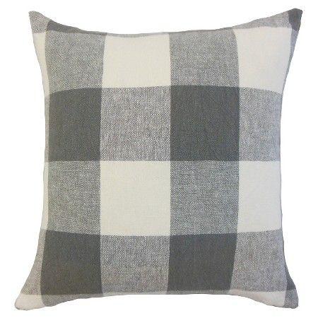 """Buffalo Check Throw Pillow Indigo (18""""x18"""") - The Pillow Collection : Target"""