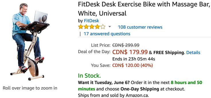 Amazon Canada Deals Of The Day: Save 40% on FitDesk Desk Exercise Bike 52% on Joola Table Tennis & Accessories... http://www.lavahotdeals.com/ca/cheap/amazon-canada-deals-day-save-40-fitdesk-desk/208733?utm_source=pinterest&utm_medium=rss&utm_campaign=at_lavahotdeals