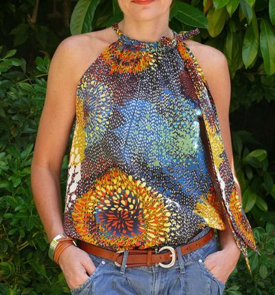 Top noué , Patron couture gratuit - pillowcase top free pattern and tutorial