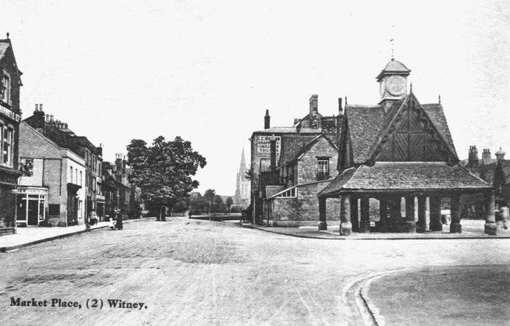 The Butter Cross in the centre of Witney's historic market square is right across the road from The Blue Boar. Image supplied by Witney & District Museum