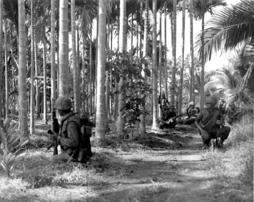 Soldiers of the Royal Thai Army Volunteer Regiment in Phuoc Tho, November 1967