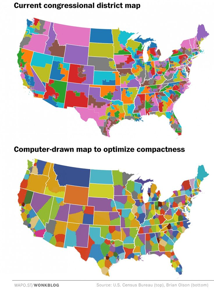 This Is Actually What America Would Look Like Without - Us voting districts map