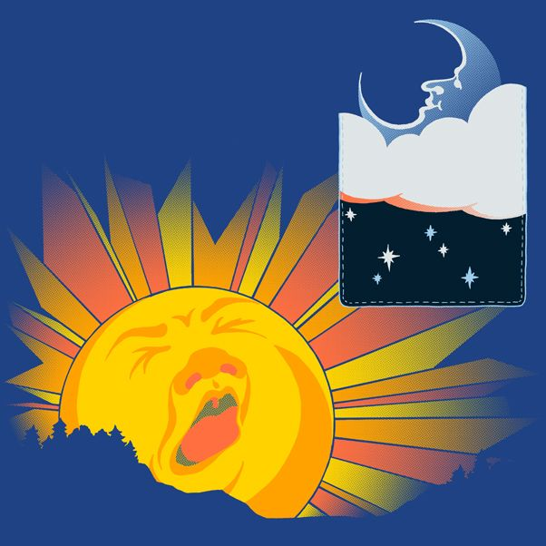 """Goodnight Sun, Goodnight Moon"" - My second entry for Woot's pocket themed challenge. If you like it, please click through and vote for it!"
