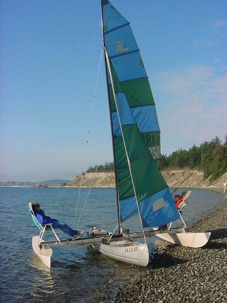 How to Create an Aluminum Canoe Trimaran | Small Trimarans