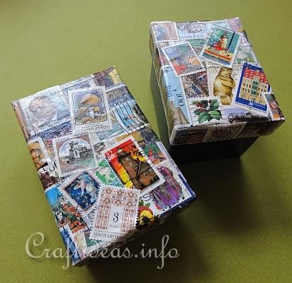 Paper Crafts for Summer and All Occasions - Decoupage Postal Stamp Box