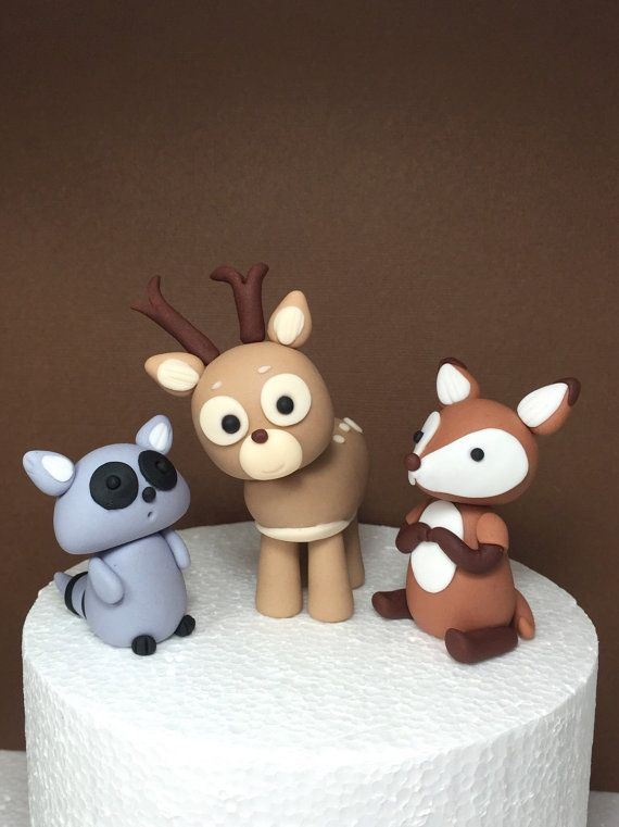 Cake Decoration Woodland Animals : 1000+ images about Varios on Pinterest Fondant, Fondant ...