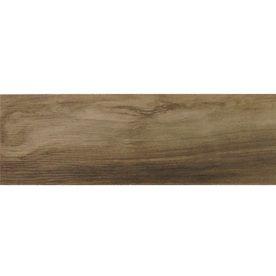 Kaden Walnut Thru Body Porcelain Indoor/Outdoor Floor Tile (Common: 6-in x 36-in; Actual: 5.91-in x 35.43-in)