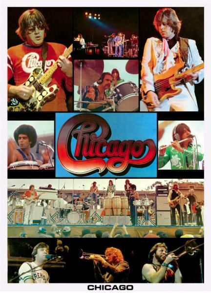 CHICAGO THE BAND POSTER 1977. I heard them at Chicagofest.