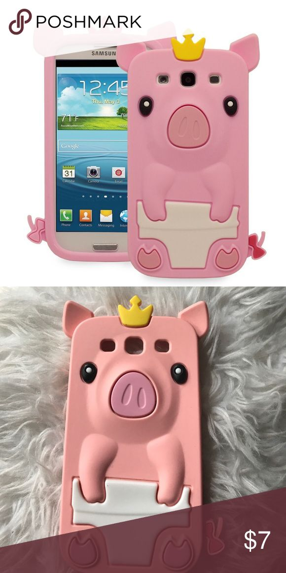Galaxy S3 Case 💛 Used but in good condition! Cute princess pig s3 case! Accessories Phone Cases