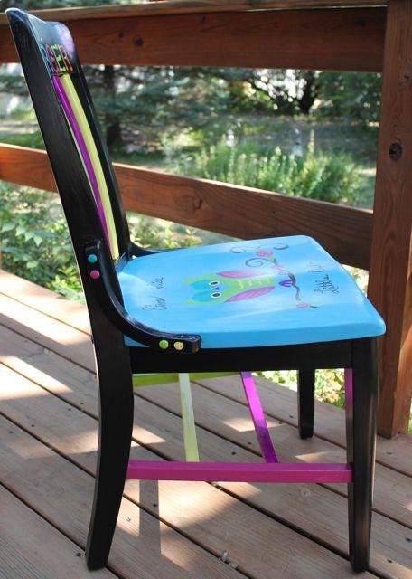 25 Best Ideas About Painted Teacher Chair On Pinterest