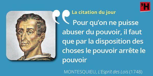 #Montesquieu souhaite la séparation ET l'équilibre des pouvoirs Explications #citation #histoire #culture