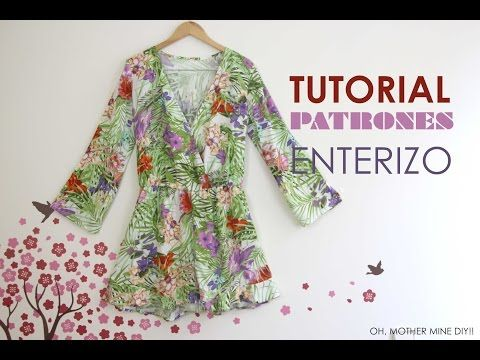 DIY Tutorial y patrones: Mono / Enterizo estampado - YouTube